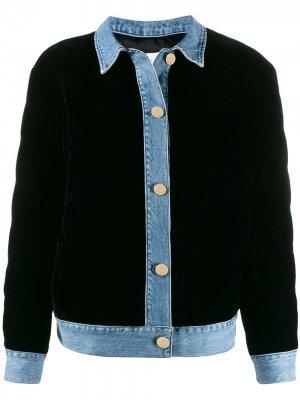 Джинсовая куртка-бомбер Sandro Paris. Цвет: черный