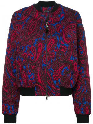 Куртка-бомбер с принтом пейсли Etro. Цвет: красный