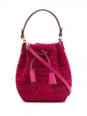 Плетеная сумка на плечо Anya Hindmarch. Цвет: розовый