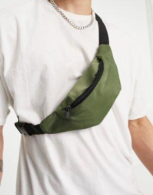 Сумка-кошелек на пояс цвета хаки -Зеленый цвет New Look