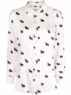 LAutre Chose блузка с узором L'Autre. Цвет: белый