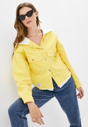 Куртка джинсовая Fadjo. Цвет: желтый