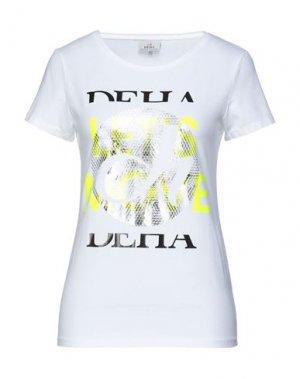 Футболка DEHA. Цвет: белый