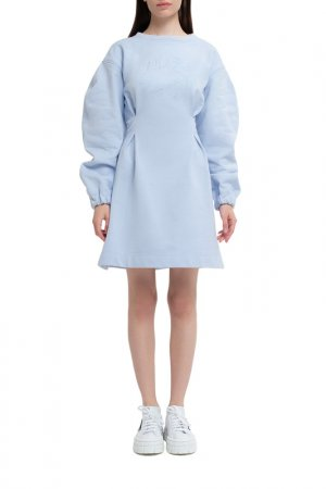 Платье спорт шик Lily Sport White. Цвет: голубой