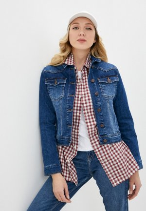 Куртка джинсовая Bochetti. Цвет: синий