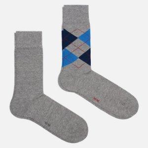 Комплект носков Everyday 2-Pack Burlington. Цвет: серый
