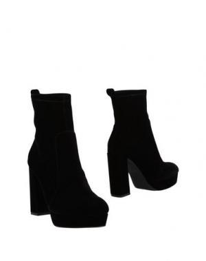 Полусапоги и высокие ботинки BLU BYBLOS. Цвет: черный