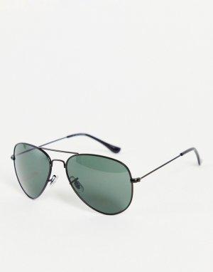 Черные солнцезащитные очки-авиаторы -Черный цвет Jack & Jones