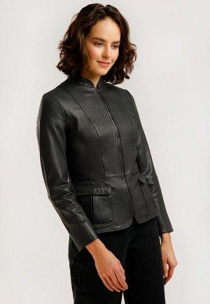 Куртка кожаная Finn Flare. Цвет: серый