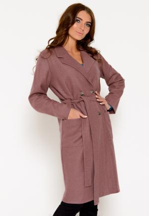 Пальто Irma Dressy. Цвет: коричневый
