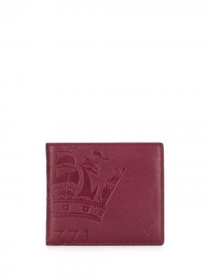 Бумажник с тисненым логотипом Gieves & Hawkes. Цвет: красный