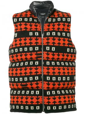 Дутый жилет Calvin Klein 205W39nyc. Цвет: черный
