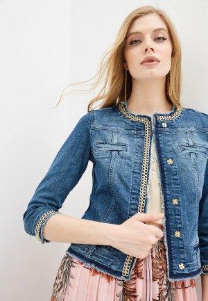 Куртка джинсовая Liu Jo GIACCA KATE. Цвет: синий