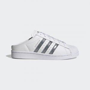 Мюли Superstar Originals adidas. Цвет: белый
