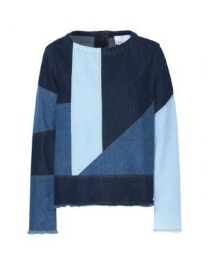 Джинсовая рубашка GEORGE J. LOVE. Цвет: синий