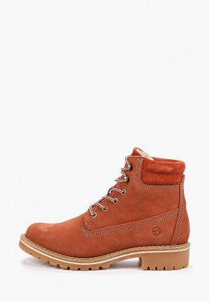 Ботинки Tamaris. Цвет: оранжевый