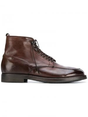 Ботинки по щиколотку на шнуровке Alberto Fasciani