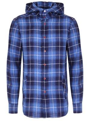 Рубашка Regular Fit с капюшоном KITON