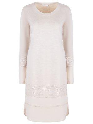 Платье с кружевом-шитьем CHLOE