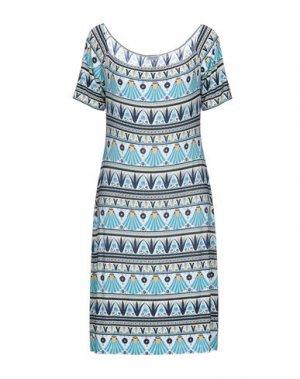 Короткое платье DOMANI. Цвет: небесно-голубой