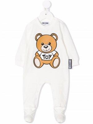 Пижама Teddy Bear с длинными рукавами Moschino Kids. Цвет: нейтральные цвета