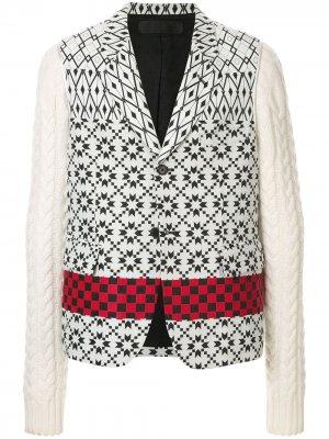 Пиджак с заостренными лацканами Haider Ackermann. Цвет: белый