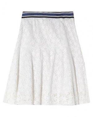 Юбка до колена LAURÈL. Цвет: белый