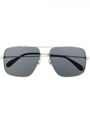 Солнцезащитные очки-авиаторы Givenchy Eyewear. Цвет: серебристый