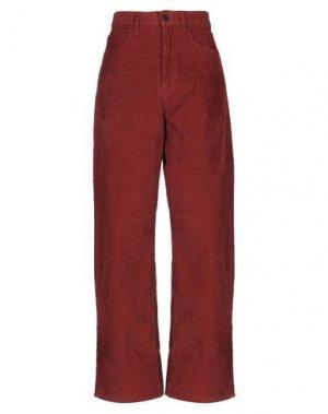Повседневные брюки PENCE. Цвет: кирпично-красный
