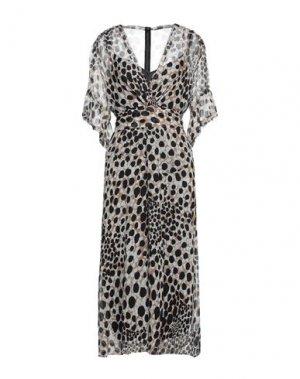 Платье миди ELIE TAHARI. Цвет: хаки