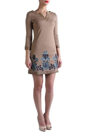 Платье EVA Milano. Цвет: бежевый