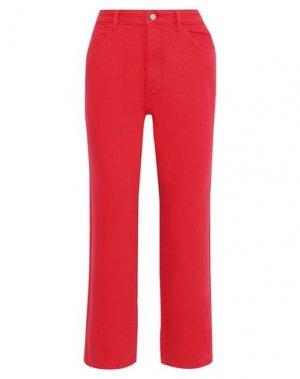 Джинсовые брюки DL1961. Цвет: красный