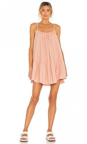 Мини платье loki Lovers + Friends. Цвет: розовый