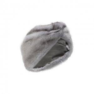 Повязка из меха норки Kussenkovv. Цвет: синий