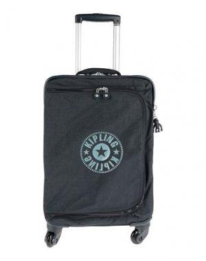 Чемодан/сумка на колесиках KIPLING. Цвет: темно-синий