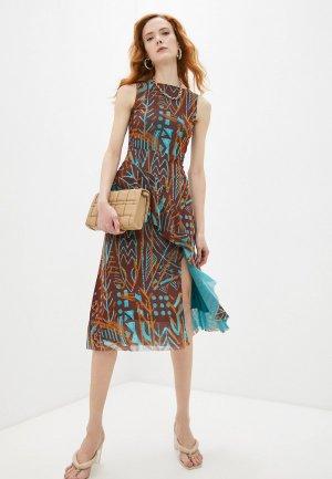 Платье Fuzzi. Цвет: коричневый