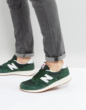 Зеленые кроссовки 420 New Balance. Цвет: зеленый