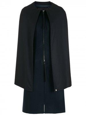 Пальто с кейпом Gloria Coelho. Цвет: синий