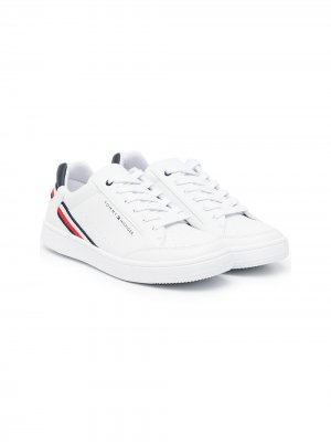 Кроссовки с логотипом Tommy Hilfiger Junior. Цвет: белый