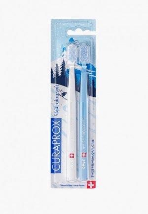Комплект зубных щеток Curaprox щетина ultrasoft, d 0,10 мм (2 шт.). Цвет: разноцветный