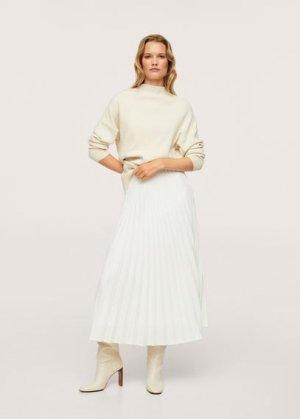 Плиссированная миди-юбка - Mara Mango. Цвет: экрю