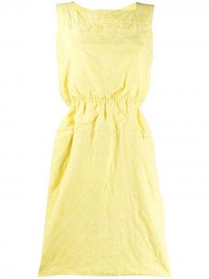 Чайное платье 1960-х годов со сборками Pierre Cardin Pre-Owned. Цвет: желтый
