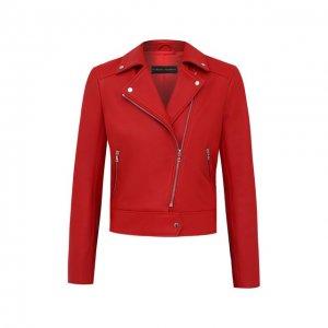 Кожаная куртка Maslov. Цвет: красный