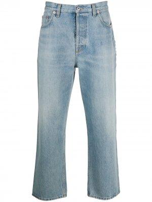 Укороченные джинсы Valentino. Цвет: синий