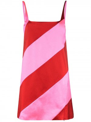 Платье мини в полоску House of Holland. Цвет: розовый