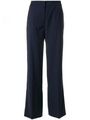 Прямые брюки в полоску Libertine-Libertine. Цвет: синий