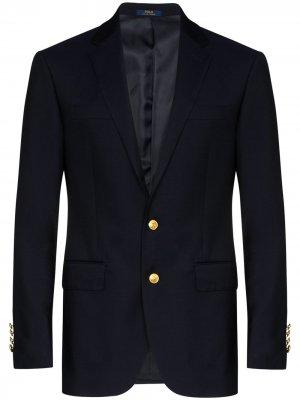Саржевый пиджак Polo Ralph Lauren. Цвет: синий