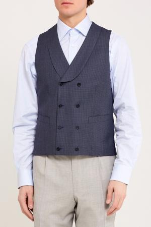 Шерстяной костюмный жилет Canali. Цвет: серый