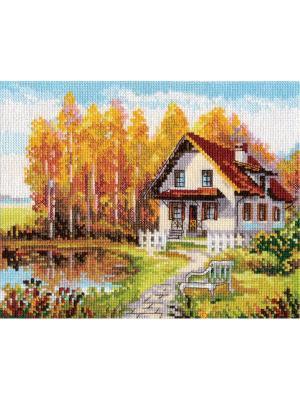 Набор для вышивания В гости к осени  21х17 см. Алиса. Цвет: голубой, желтый, зеленый