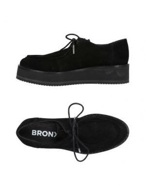 Обувь на шнурках BRONX. Цвет: черный